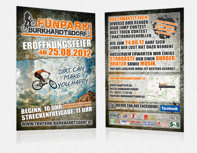 Funpark Flyer in Printsachen
