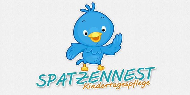 Spatzen Logo in Gestaltung