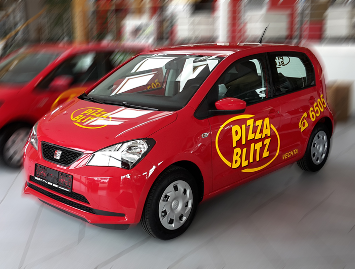 PizzaBlitz in Beschriftungen